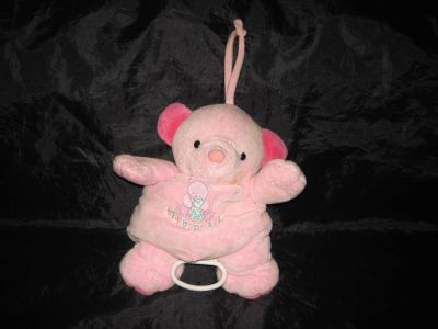 """BABY CARTERS PINK BEAR MUSICAL TWINKLE LITTLE STAR CRIB PLUSH TOY 11"""""""