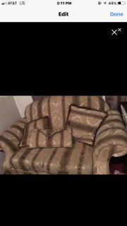 Couch set with pillows