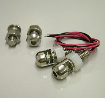 Sell DEI 030309 LITE'N BOLTZ License Plate Light Kit Polishd motorcycle in Suitland, Maryland, US, for US $37.74