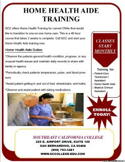 Home Health Aide Training for current CNAs