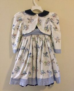 Handmade vintage style dress and pinafore. Size 5-6