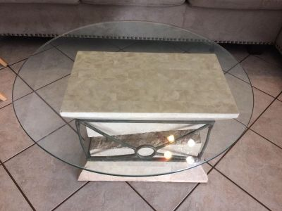 Coffee table sits low to floor,