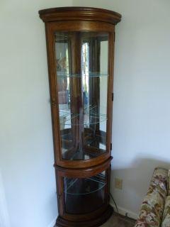 Corner Curio Cabinet, lighted