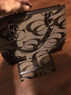 Coach purse and wallet (not the real one but great shape)