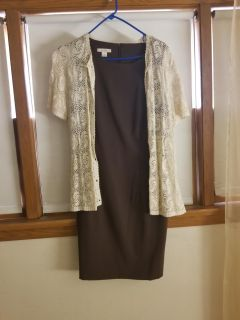 Sz 12 dress barn dress with cover up