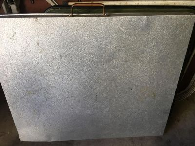 Vintage aluminum fold out table