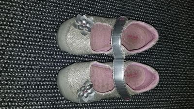 Silver Stride Rite Mary Janes 10