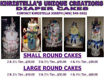 Khristella's Unique Creations Diaper Cakes