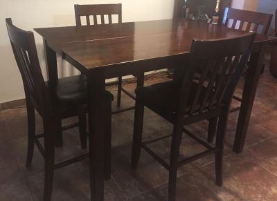 High Top Wood Dinning Table