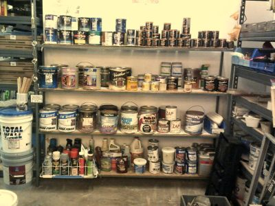 Paint, stains wood sealers, etc
