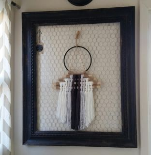 Huge frame with chicken wire backing
