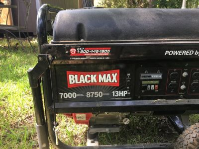 Black Max 7,000W / 8,750W Honda Powered Portable Gas Powered Generator