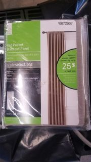 """Style Selections 84in """"Taupe"""" Rod Pocket Blackout Curtain Panel"""