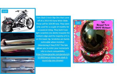 Assorted motorcycle items