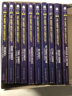 The Hardy Boys Paper Back Books lot of 10 by Franklin W. Dixon. Books 60 to 69