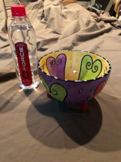 CUTE HAND PAINTED BOWL!