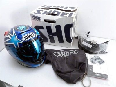 Buy Shoei X-Eleven Blue Motorcycle Helmet Size L (59-60cm) Japan motorcycle in Groton, Connecticut, US, for US $152.50