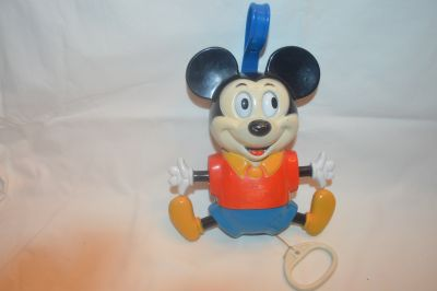 Vintage Mickey Mouse Crib Toy