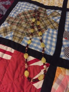 Yellow & Brown Necklace