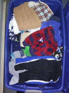 Bucket full of boy clothes 3months -24months
