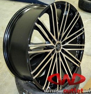 "Purchase 24"" VERSANTE 227 BLACK WITH MACHINED WHEELS W/ TIRES 6X139.7 Chevy GMC Nissan motorcycle in Escondido, California, US, for US $1,575.00"