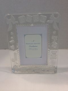 Princess House Lead Crystal Baby picture frame
