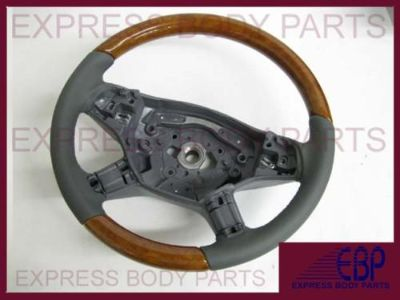 Buy MERCEDES BENZ STEERING WHEEL R W251 R350 R63 GRAY GREY LEATHER LIGHT WOOD NEW motorcycle in North Hollywood, California, US, for US $449.99