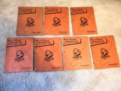 Find Lot of 7 Rochester 2GC 4GC Carburetor Service Training Manuals 1955 GM Pass Cars motorcycle in San Antonio, Texas, United States, for US $19.95