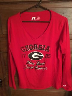 Georgia How Bout Them Dawgs LS V Neck Girls 14/16 Top $9 Must Pickup In McDonough