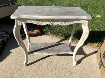 Grey Painted Side or Entry Table