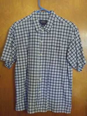 Boy's Sonoma Jean Co. shirt, sz. L 16/18, 100% cotton, extra button included