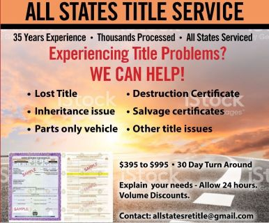 ALL STATES RETITLE SERVICE (USA)