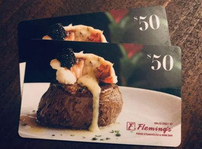 $100 Fleming s gift card