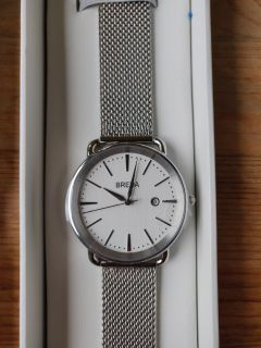 Breda Linx stainless steel Watch