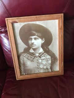 Framed Annie Oakley picture 13 x 16