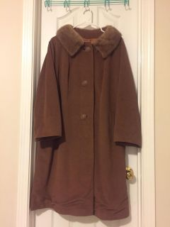 Cashmere replica swing coat size large