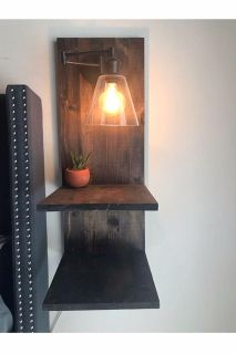 Side table/nightstand lamp
