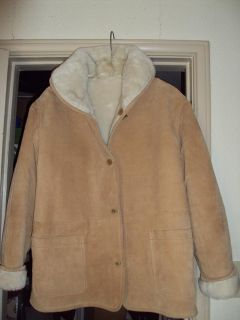$200, Beautiful Tan Suede Coat Woman