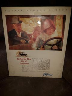 Ford wooden wall plaque