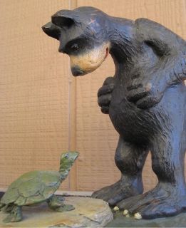 *~~ Bear and Turtle ~ American Chestnut Folk Art ~ Friends AM1104 ~~*