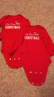 Carter's 9 month first Christmas onesies