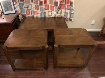 Matching Set of wood side tables and coffee table