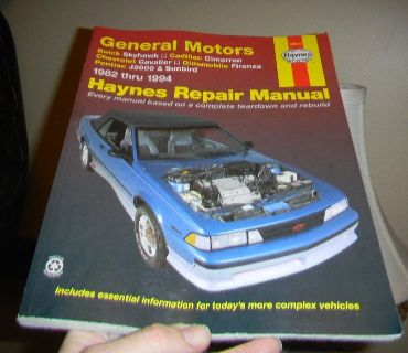 Haynes Repair Manual General Motors 1982-1994