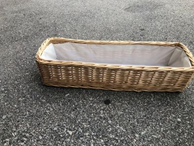 Basket with liner 24 x 8