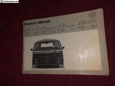 '71 BUS Original Owners Manual 8/70