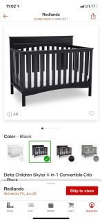 Delta children skylar 4-in-1 convertible crib