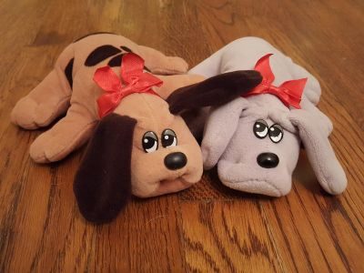 1980s Tonka Newborn Pound Puppies in Clean, Very Good Condition