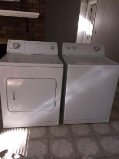 Whirlpool washer and dryer. Work great. $200 for both.