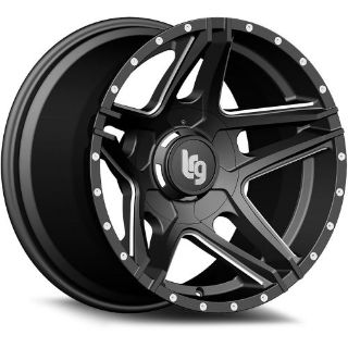 Purchase 20x12 Black Milled LRG 109 8x6.5 -44 Rims Couragia MT 35X12.5X20 Tires motorcycle in Saint Charles, Illinois, United States, for US $2,103.86
