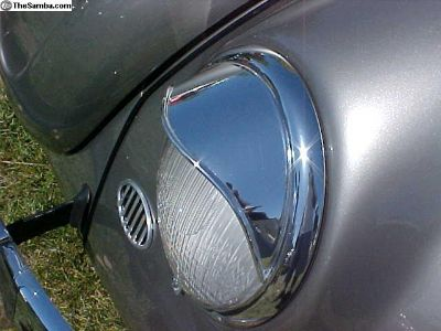 Happich style stainless steel headlight eyebrows